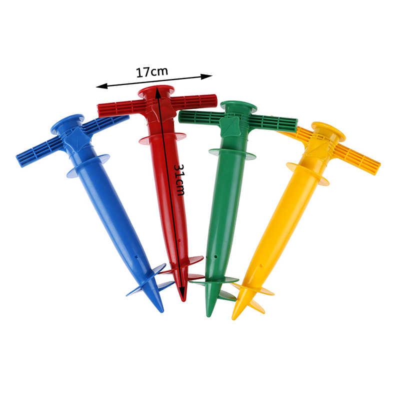 1 шт. пляжный зонт стенд Спайк пластиковый шнек держатель рыболовный полюс патио зонтик наземный якорь дождевые шестерни шипы
