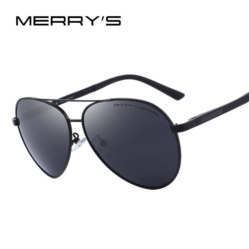MERRYS DESIGN Men Classic Pilot Polarized Sunglasses Aluminium Magnesium Legs UV400 Protection S8158