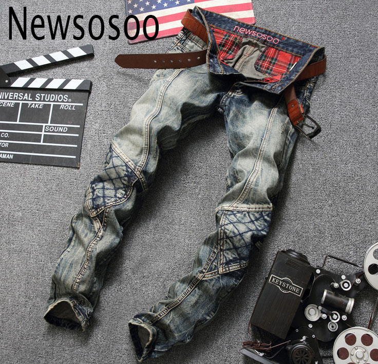 European American Style 2016 luxury brand Men's jeans slim Straight denim trousers fashion vintage stripes pop jeans for men 600 american style 2017 men s jeans usa flag print slim denim trousers jeans fashion brand luxury straight punk slim jeans for men