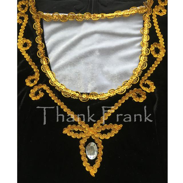 Boys Prince Ballet Top Custom Made Available Men Long Sleeve Gold Sequin Trim Dance Costume C414