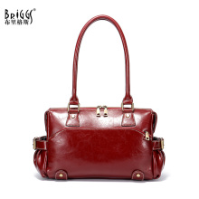 купить Vintage Genuine Leather Women Handbag Real Cow Leather Shoulder Bag Female Vintage Messenger Bag Ladies Tote bag for Women по цене 3247.01 рублей