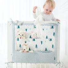 Baby Hanging Storage Bag Nursery Hanging Storage Bag Baby Cot Bed Crib Organizer Toy Diaper Pocket for Newborn Crib Bedding Set