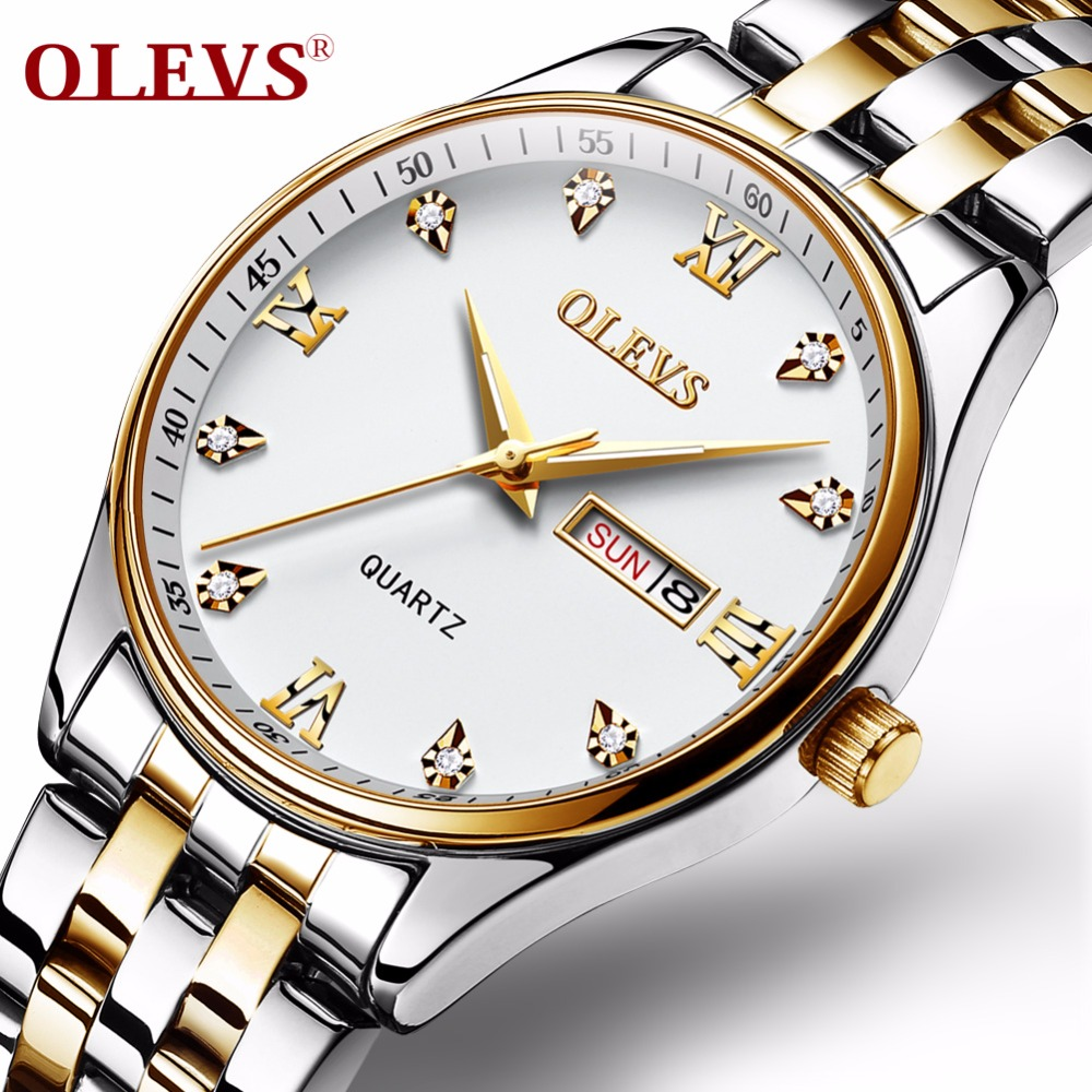 New relogio Couple watches for lovers stainless steel pair men and women Casual waterproof Rome Rhinestone Quartz watch Clock