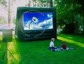 M013 Бесплатная доставка Горячей продажи надувные фильм экран, открытый надувной экран кино с насосом
