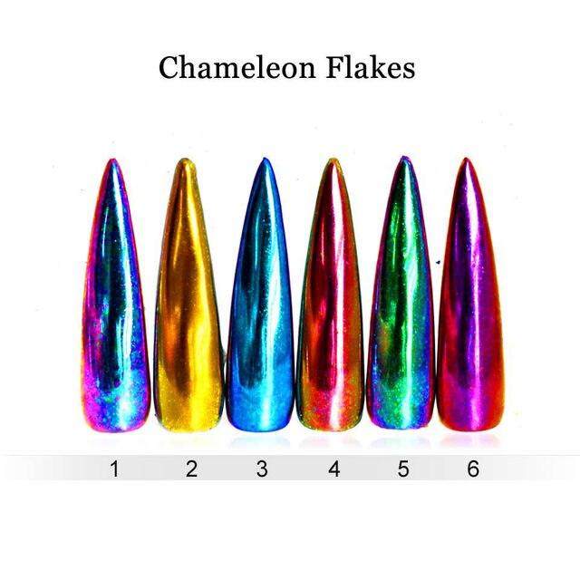 Tienda Online Efecto camaleón yuca copos Clavos Glitter flakes ...