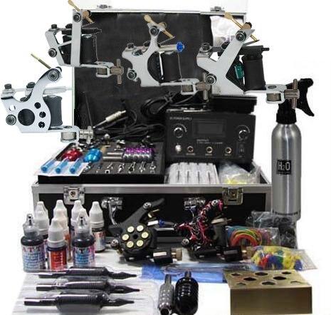 Professional Tattoo Kit 6 tattoo machines Good quality free shipping ...