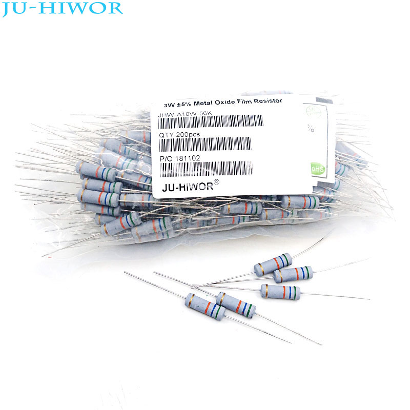 1000pcs 3W 5 Carbon Oxide Film Resistor 0 22 0 47 0 5 1 1 5