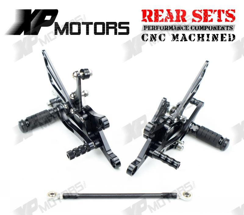 New Arrived Racing Foot pegs Adjustable Rearset Rear Sets For Yamaha YZF R1 1998 1999 2000 2001 2002 2003 Black black gold motorcycle new front rear full set brake discs rotors for yamaha yzf r1 2002 2003 yzf r6 1999 2000 2001 2002 99 02