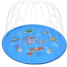 Детское летнее напольное водяное сиденье игры пляжный коврик газон надувная Спрей Вода подушка игрушки наружная Складная Ванна, бассейн
