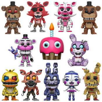 6PCS/Set Five Nights At Freddy's Toys PVC Action Figure FNAF Nightmare Chica Bonnie Funtime Foxy Freddy 5 Fazbear Bear Dolls freddy fazebear chica foxy full face latex mask costume toys five nights at freddy fnaf halloween horror mask brinqudoes l2079