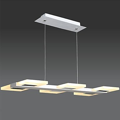 Square Acrylic Modern LED Pendant Lights Lamp For Dinning Room,Suspenison Luminarie Lustres E Pendentes De Sala new design acrylic modern led pendant lighting lamp with 6 lights for dining room foyer lustres e pendentes de sala ac