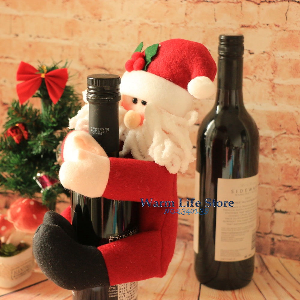Cute santa claus towel christmas decor - Aliexpress Com Buy Christmas Indoor Decorations Towel Bottle Cover Toy Snowman Santa Claus Doll Christmas Wine Holder Bottle Cover Xmas Ornaments From