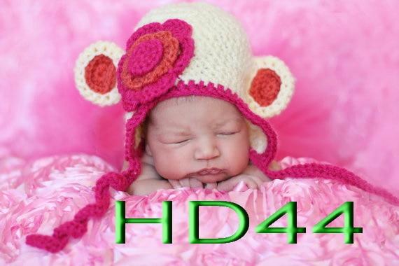 Freies verschiffen, Baby Tier Hut, mädchen affe Hut mit Ohrenklappen ...