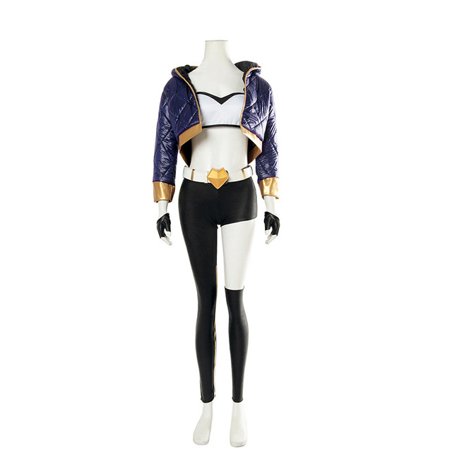 League of Legends K/DA kda LOL Akali The Fist of Shadow Cosplay Animation & Comic Costume Bodysuit  Jumpsuits Adults 1