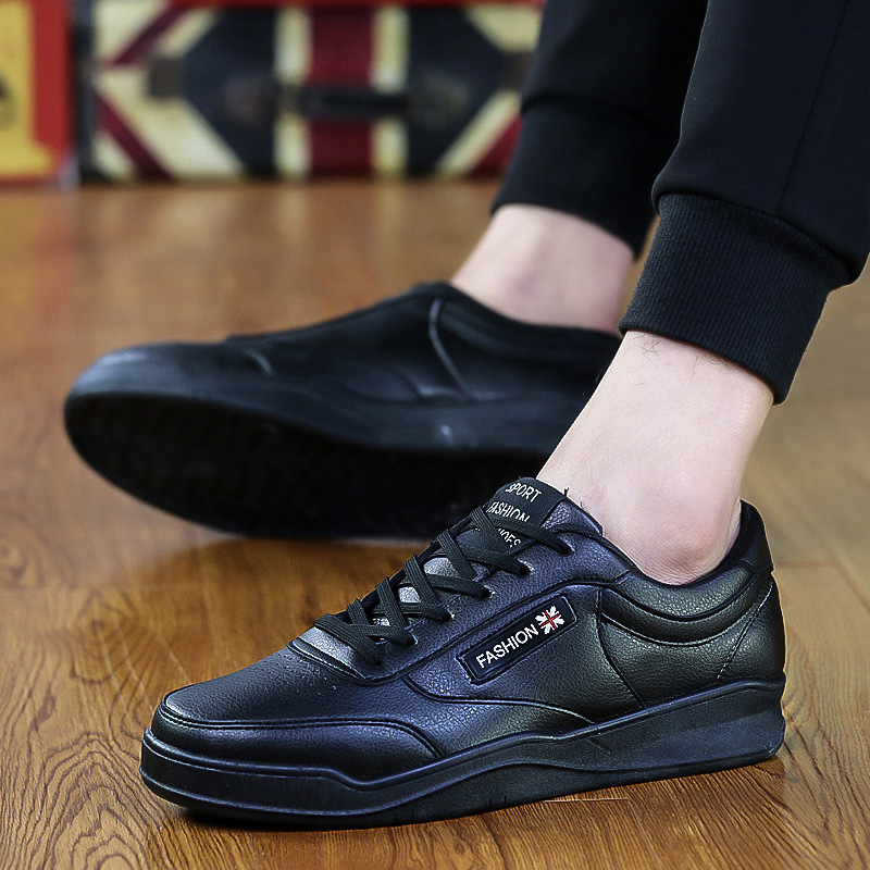 2017 spring summer new waterproof men flat breathable sports shoes British style men leather running shoes zapatillas hombre