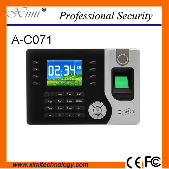 TCP/IP RFID card Biometric Fingerprint Time Clock Recorder Attendance Employee Electronic Punch Reader Machine Realand A-C071