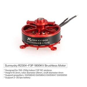 Бесщеточный мотор Sunnysky R2304 2304 1800KV 2-3S для внутреннего использования F3P RC Delta самолет с неподвижным крылом