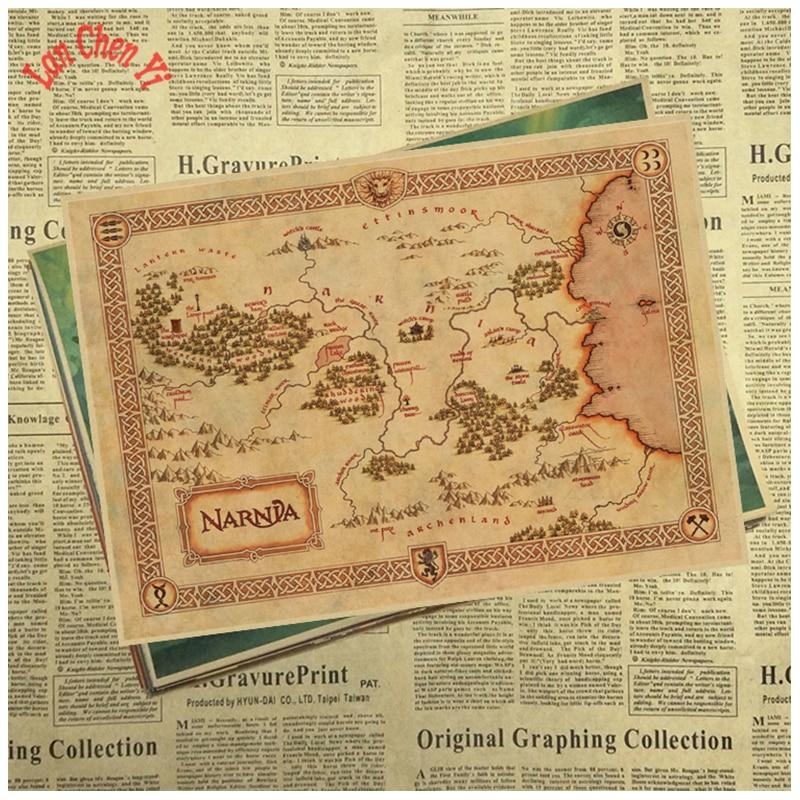 Vintage Treasure Map Matte Kraft Paper Poster Office Gift Room Dining Home Decor wall sticker Design