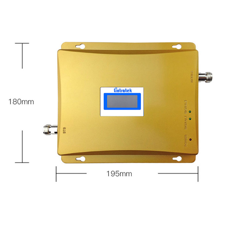 Lintratek GSM 900 3G Signal Booster 2G 3G GSM 900Mhz WCDMA UMTS 2100MHz Mobile Signal Repeater Cellular Amplifier Dual Band 6 4 in Signal Boosters from Cellphones Telecommunications