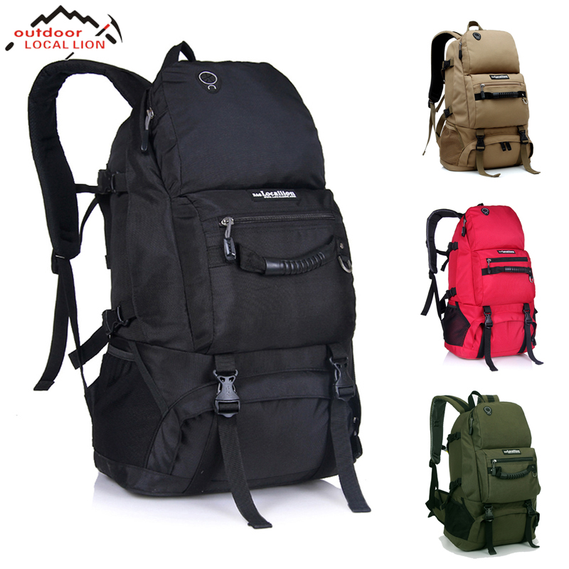 Outdoor 50L Sports Bag Large Capacity Men Travel Bag Mountaineering Backpack Hiking Camping Waterproof Bag new 65l large capacity mountaineering bag camping outdoor bag hiking waterproof cover camouflage backpack fishing bag