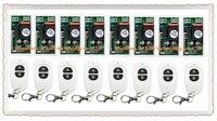 A maioria de fiação simples ac220v 1ch sistema de interruptor de controle remoto sem fio 8 pces receptor & 8 pces two-button remoto 315 mhz/433 mhz
