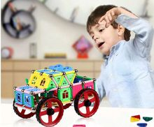 High quality 215PCS Child Early magnetic car sticks Education block figure Amazing Magnetic set