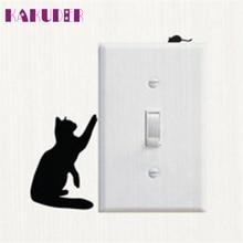 Kakuder pegatinas paredes decoracion 1 шт. кошка переключатель виниловая наклейка животных наклейки на стену* 10 подарок падение