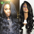 Best Human Lace Frontal Wigs Virgin Brazilian Hair 13x6 Lace Frontal Deep Body Wave Lace Front Wig With Baby Hair Bleached knots