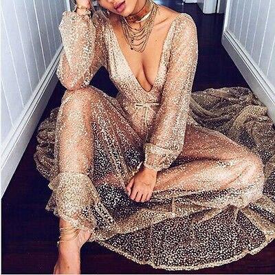 Женские летние Бохо длиной макси Вечеринка платье пляжные платья пайетки сарафан стильная женская обувь женщины с длинным рукавом Одежда
