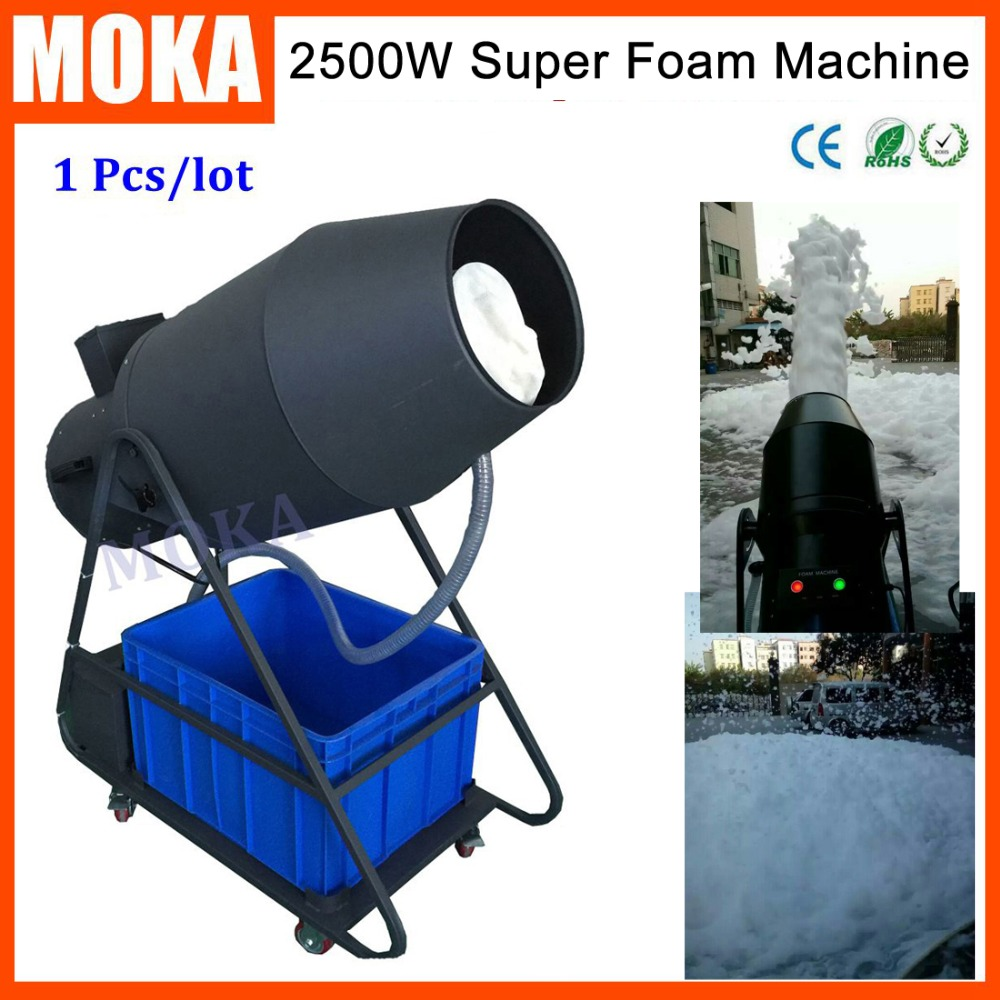 Flight Case Packing Party Spray 2500W  Foam Maker Machine Large Foam Fantasy Machines Foam Canon Machine