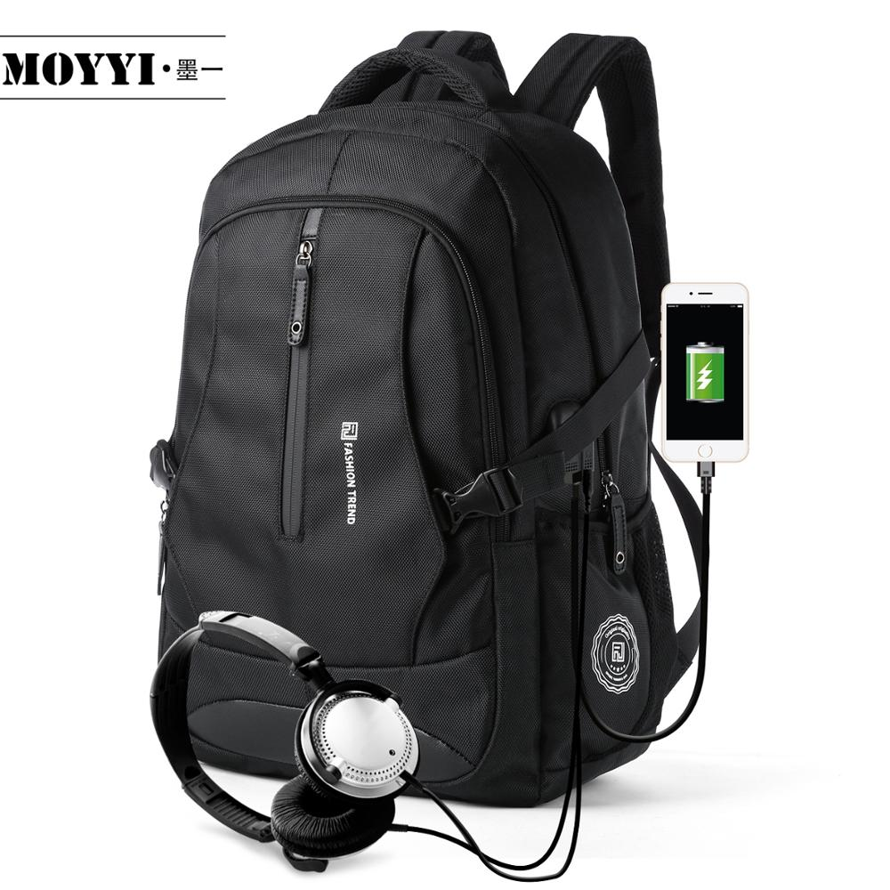 "MOYYI Men Travel Backpack Large Capacity Teenager Male Mochila Back Anti-thief Bag 17.3"" Laptop Backpack Waterproof Backbags(China)"