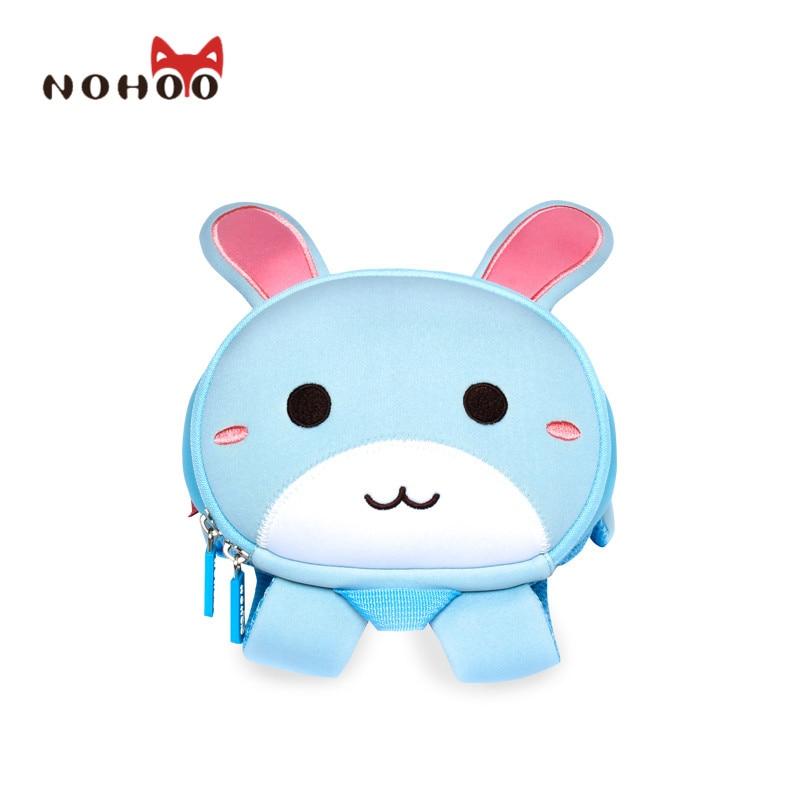 ФОТО NOHOO Butterfly Waterproof Children School Bags Rabbit Animals School Backpacks For Teenage Girls Large Capacity Baby Backpack