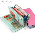 100% Genuine Leather Wallet Women Design Wallet Panelled Clutch Women Cowhide Purse Zipper & Hasp Credit Cion Pocket Card Holder
