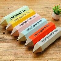5 шт./лот канцелярские карандаши креативные карандаши стили канцелярские принадлежности сумка для хранения носимые силиконовые школьные к...