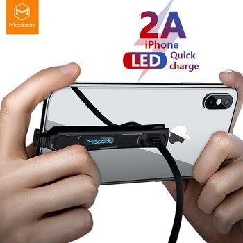 2ecfb88e8d6 Baseus Testos retroiluminado LED Cable de datos de carga USB para Cable de  iPhone 8 7 6 Plus X iPad 1 m 2.4A cable de carga rápida