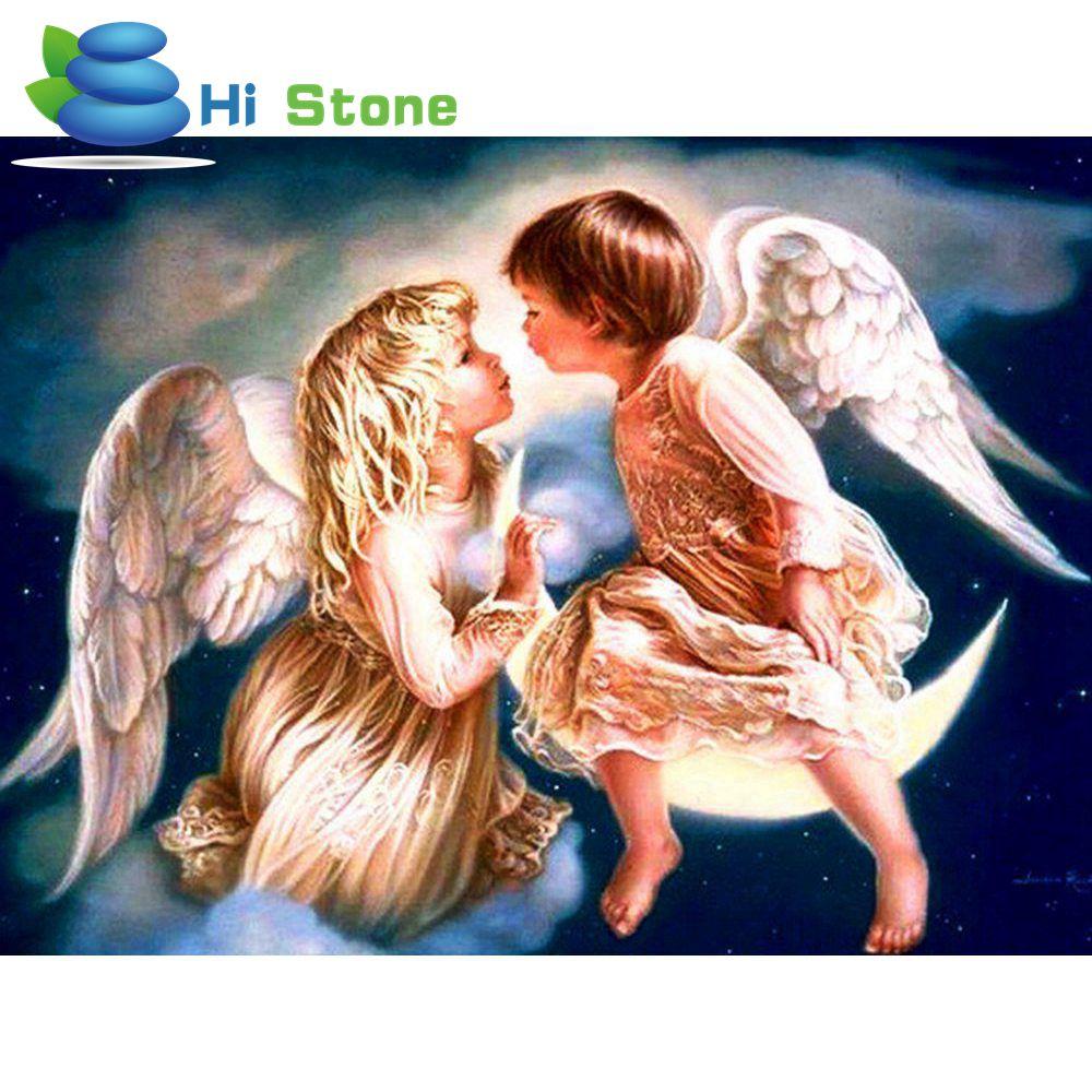 5D Diy алмазов картина вышивки крестом Ангел полный квадратный алмаз вышивкой мозаика кристалл ремесленных подарки