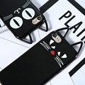 Lovley lindo caso para iphone 7 7 plus tpu suave de silicona cubierta de la historieta encantadora espalda orejas de gato cáscara de coque para apple iphone7 7 Plus