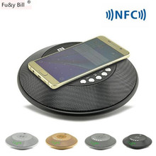 Portable Wireless Bluetooth Speaker NFC HIFI Radio Music Player Hands Free and Unlimited Charge Time Display for Smart Phone