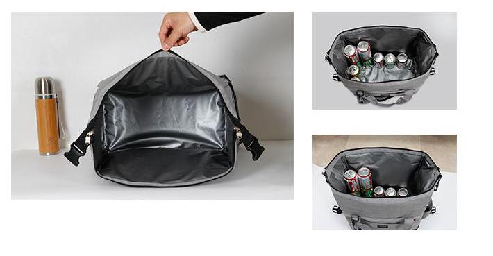 Outdoor Picnic Bag Cooler Bag Oxford Cloth Double-deck Waterproof Takeout Aluminum Foil Insulation Lunch Cold Box Picnic Bags