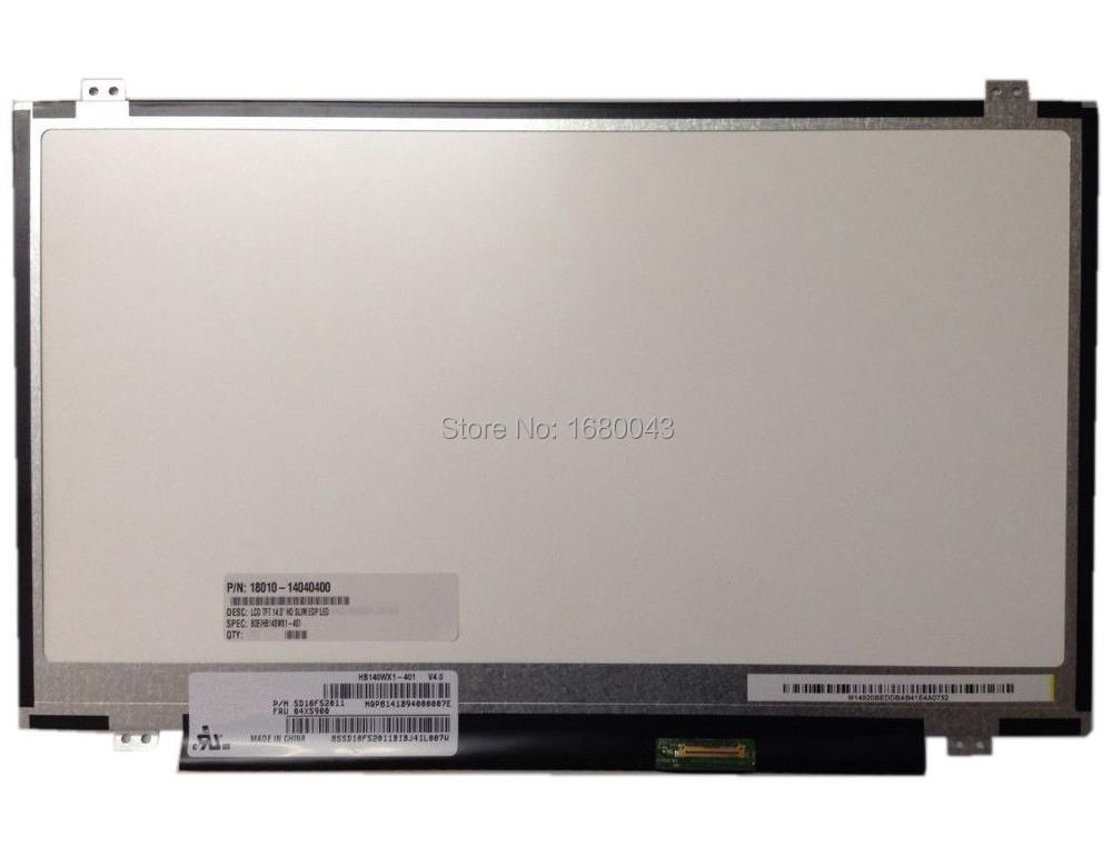 HB140WX1-401 301 501 601 Fits LTN140AT31 LP140WHU TPA1 B140XTN03.2 LP140WH2 TPS1 EDP 30 Pin LCD LED SCREEN