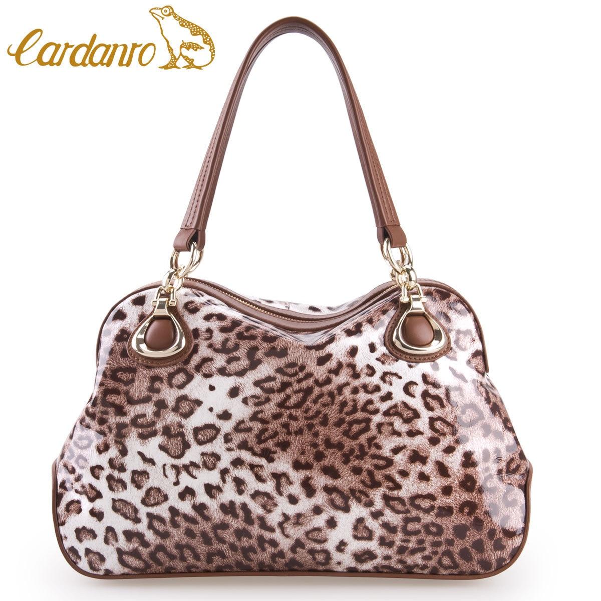 CARDANRO women s handbag genuine leather first layer of cowhide leopard  print fashion women s fashion handbag shoulder bag on Aliexpress.com  8d96d8e90647f