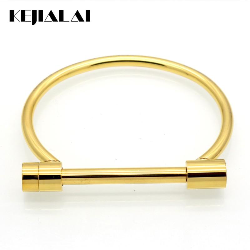 2016 Fashion Famous Brand Bangle Titanium Steel Real Love U Shape Bracelets&Bangles Pulseira Masculina Jewelry Gift