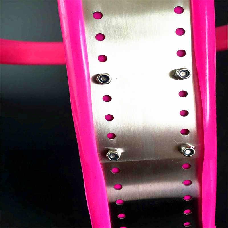 Dispositivos de castidade Cinto de Castidade de Aço Inoxidável com Plug Anal Castidade Cinto de Castidade Castidade Bloqueio Virgindade Calças Femininas G7-5-35