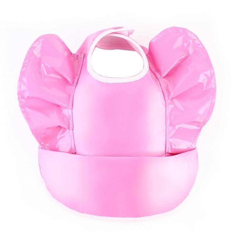 Pink Newborn PU Waterproof Aprons Baby Bibs New Design Baby Bibs Waterproof Solid Feeding Baby Saliva Towel 4 Styles j3