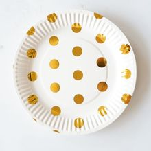 10pcs 7inch Gold Dot Paper Plates Birthday Wedding Party Supplies Decoration Cake Dish Disposable Plate Baby  sc 1 st  AliExpress.com & Popular Gold Paper Plates-Buy Cheap Gold Paper Plates lots from ...