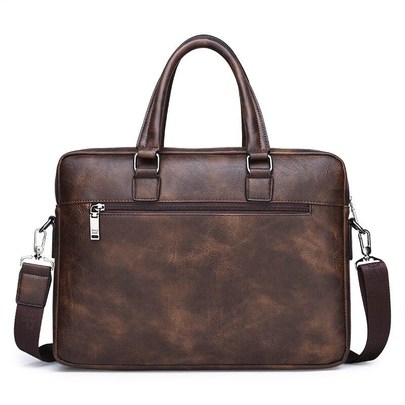 HTB1R6UCeQ5E3KVjSZFCq6zuzXXaY New Men Briefcase Bags Business Leather Bag Shoulder Messenger Bags Work Handbag 14 Inch Laptop Bag Bolso Hombre Bolsa Masculina