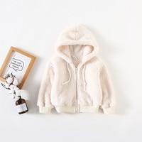 Soft Cotton Winter Baby Boys Girls Coat Hooded Zipper Infant Jacket Long Sleeve Warm Children Clothes Thicken Kids Outwear Tops