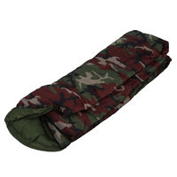 High Quality Cotton Camping Sleeping Bag 15 5 Degree Envelope Style Army Or Military Or Camouflage
