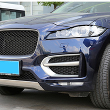 Free Shipping High Quality ABS Chrome Front Fog lamps cover Trim Fog lamp shade Trim For jaguar fpace f pace