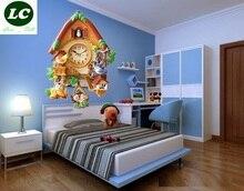 core creative wall clock cuckoo clock cartoon children room bedroom mute quartz clock sitting room clocks